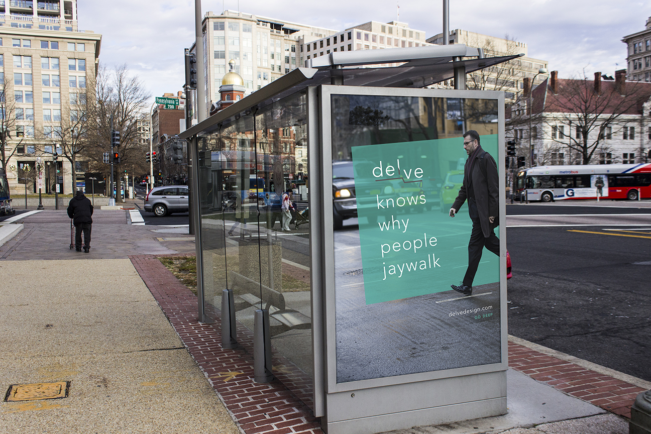 Bus Stop Ad delve small